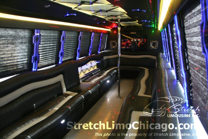 chicago limousine bus services    passenger limobus rental
