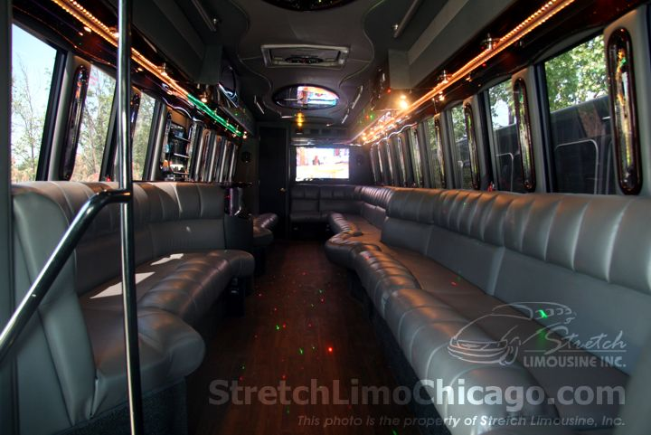 freightliner limo bus interior rear