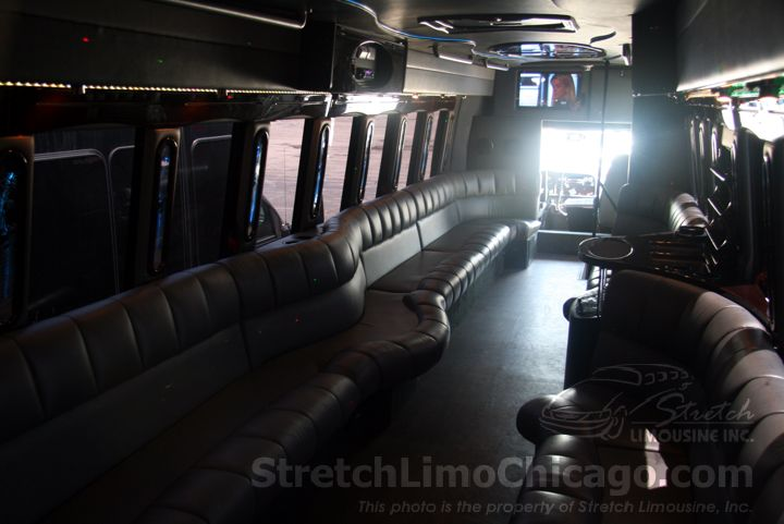 freightliner limo bus interior front
