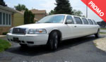 White 12-Passenger Mercury Grand Mistique Super Stretch Limousine