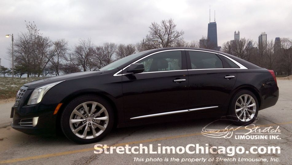 cadillac xts chicago skyline outside view