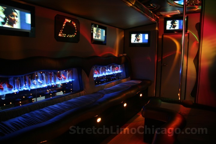 chicago party bus. What's featured on our Chicago limo bus?