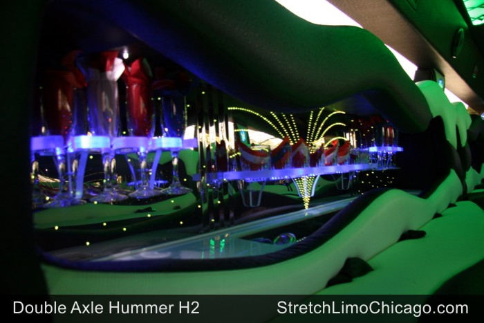 double axle hummer limo interior