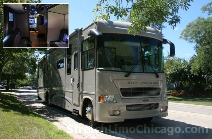 chicago wedding bus