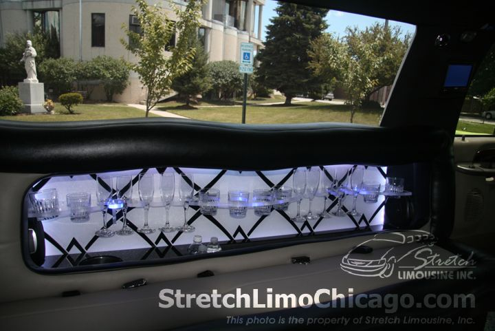 White Ford Excursion SUV Limousine BAR