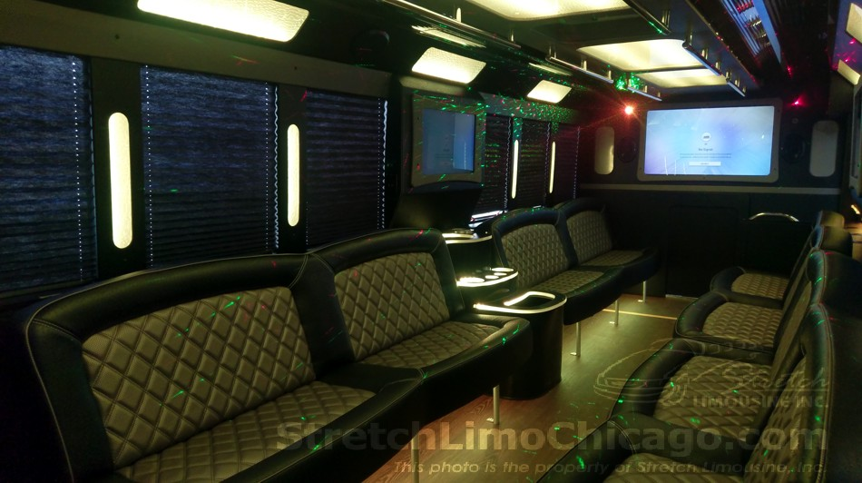 Tiffany Ford F550 Limousine Party Bus In Chicago 28 To 30 Passenger