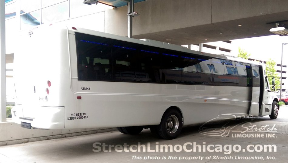 44-to-52-passenger Grech Motors GM45 bus rear-angle view