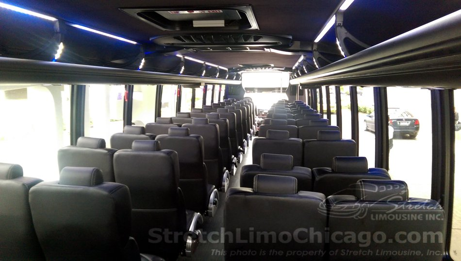 44-to-52-passenger Grech Motors GM45 bus inside view: back to front.