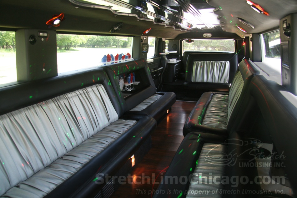 Hummer H2 limo interior view