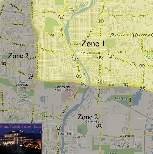 Elgin IL limo rate zones