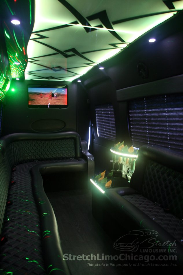 High ceiling in Mercedes Sprinter limo