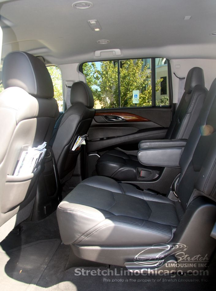 cadillac escalade inside view  - bucket captain seats